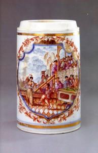 約瀚.格瑞哥里烏斯.赫洛德(Johann Gregorius Höroldt,1696-1775)的中國風瓷繪設計作品